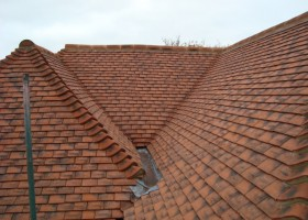 internal slopes roof tiles