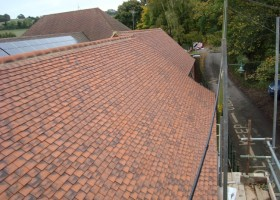 newly tiled school roof