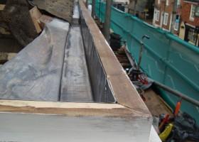 Lead Box Gutter On Kent Peg Tiled Roof
