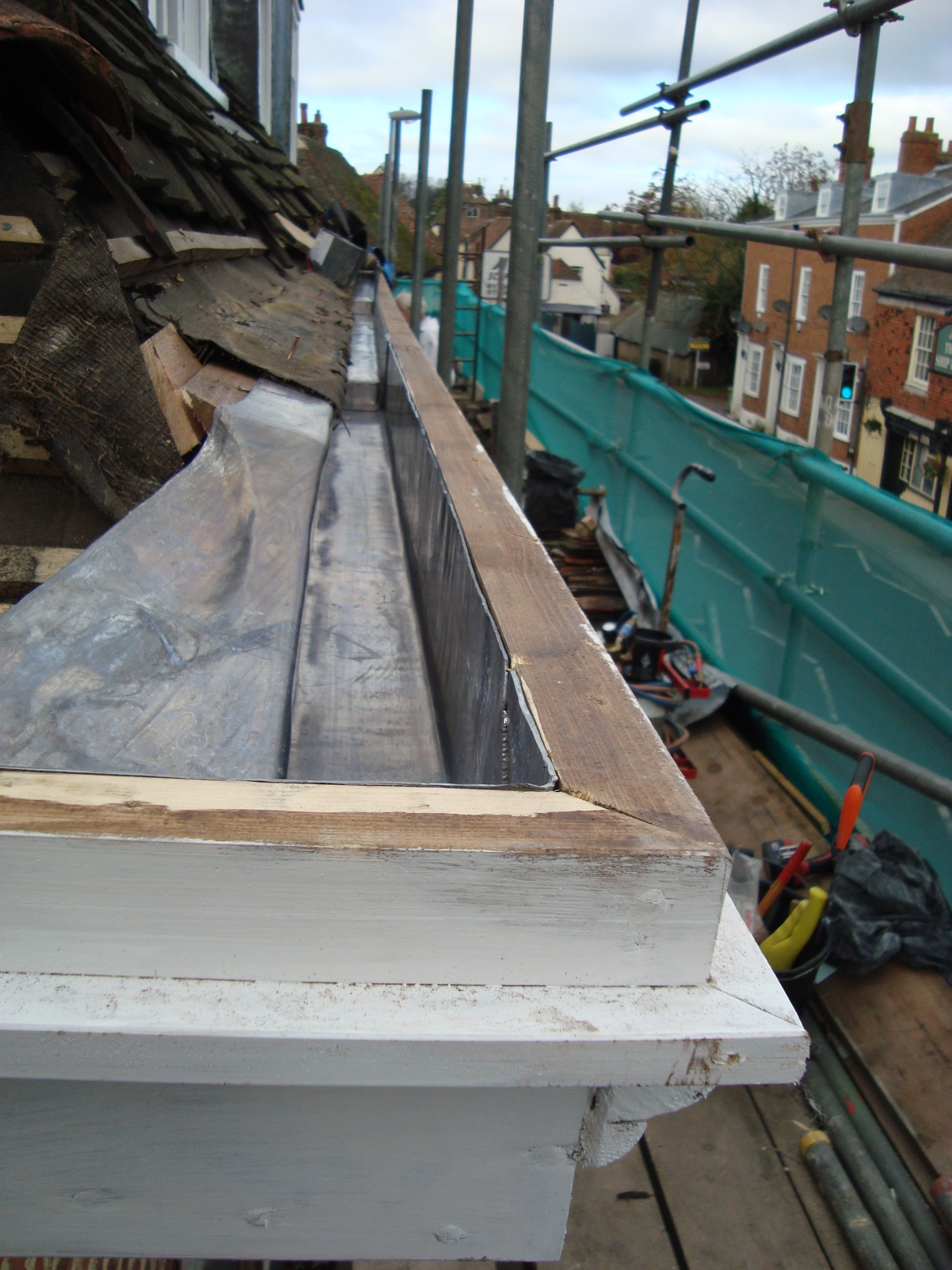 Comprehensive Coverings Lead Box Gutter Faversham Kent
