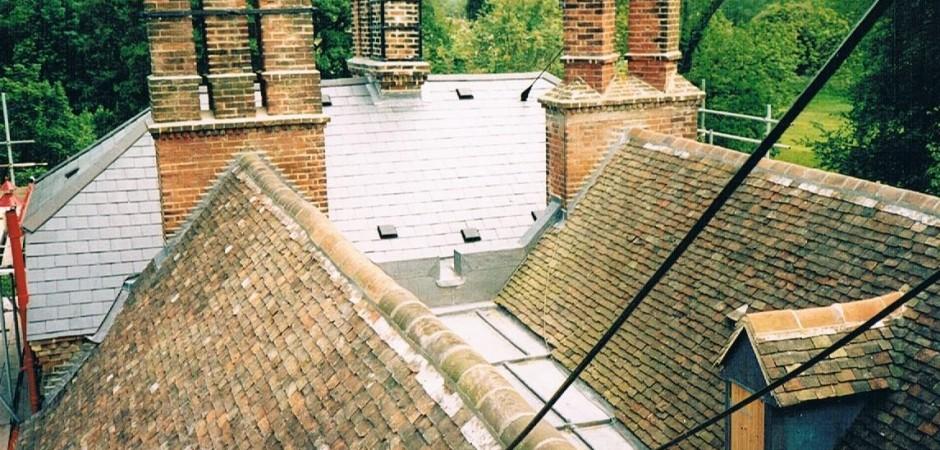 Kent peg and slate roof