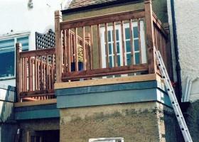 Lead roof balcony