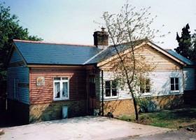 Newly slated roof